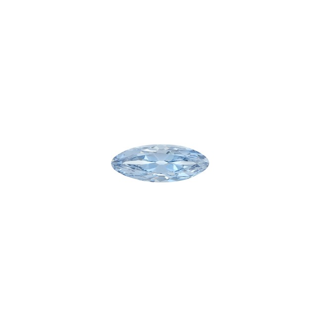 Platinum, Blue Diamond and Diamond Ring