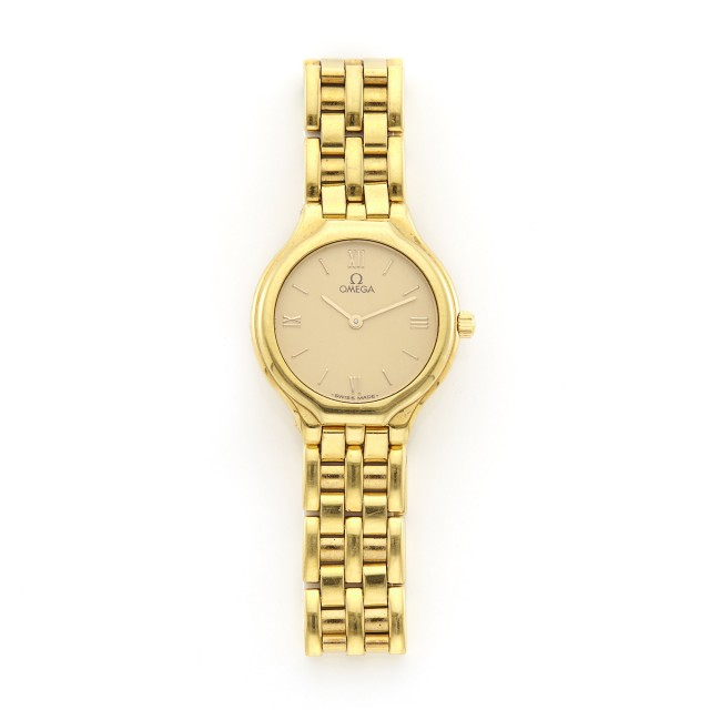 Lady's Gold 'DeVille' Wristwatch, Omega