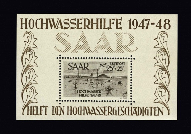 Saar Under French Protectorate Postage Stamp Collection