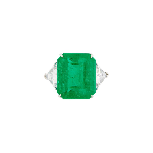 Platinum, Emerald and Diamond Ring, Daniel K.