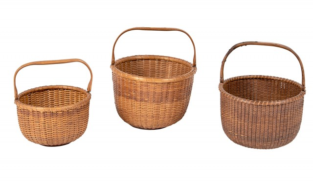 Group of Three Open Lightship Baskets