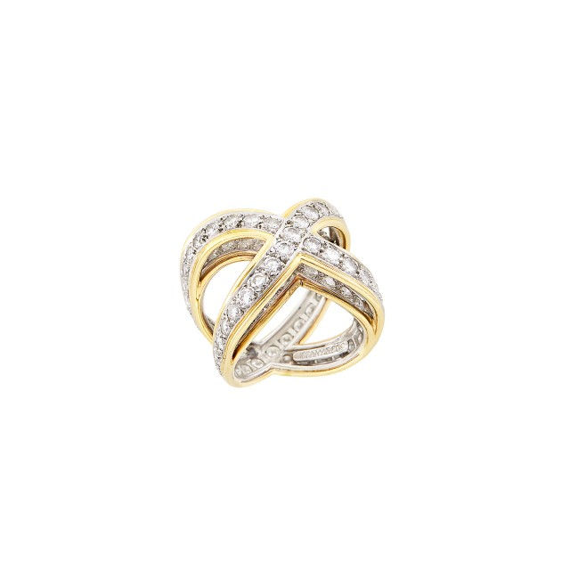Gold, Platinum and Diamond Band Ring, Tiffany & Co.
