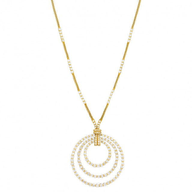 Gold and Diamond Pendant-Necklace
