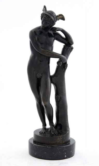 Patinated Bronze Figure of Hermes