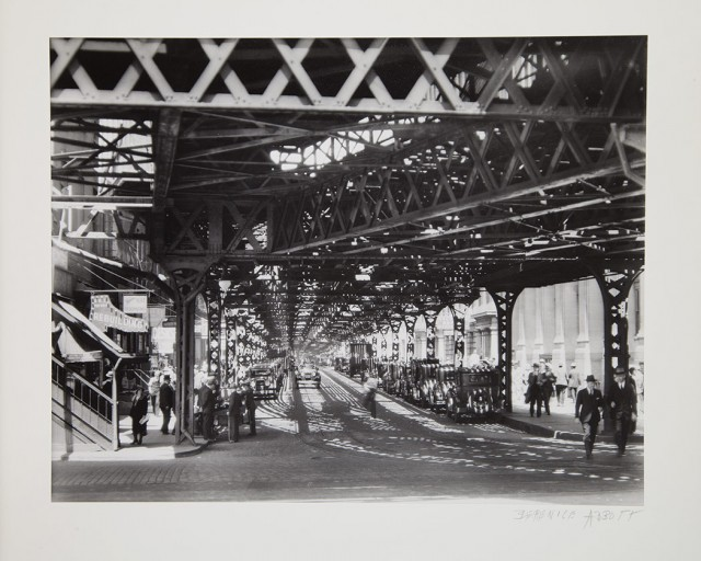 Berenice Abbott, Under the El at the Battery, New York, 1936