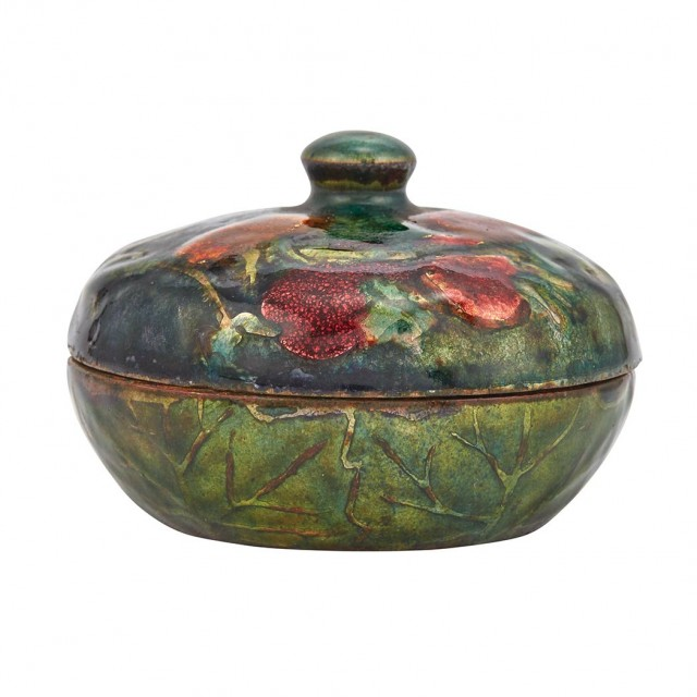 Tiffany Studios, Enameled Metal Box, circa 1905