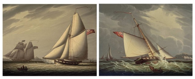 Robert Salmon, Castle Edwin Capturing the American Schooner John and William, 1822, and Castle Edwin Capturing the American Schooner John and William, 1822