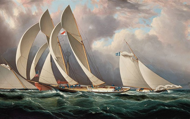 James Edward Buttersworth, Yacht Racing Off Sandy Hook