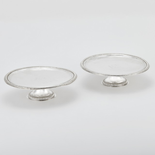 Pair of William III Irish Sterling Silver Tazzas