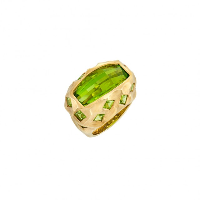 Gold and Peridot Ring, Tony Duquette. Auction: Feb 22, 2017