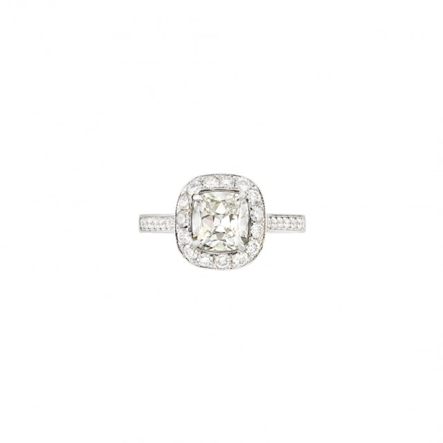 Platinum and Diamond Ring. Est. $2,000-3,000. Auction May 22. Beverly Hills