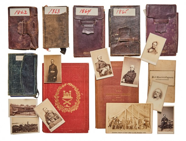 A selection of Barnard's diaries, published books, and collection of carte-de-visite portraits