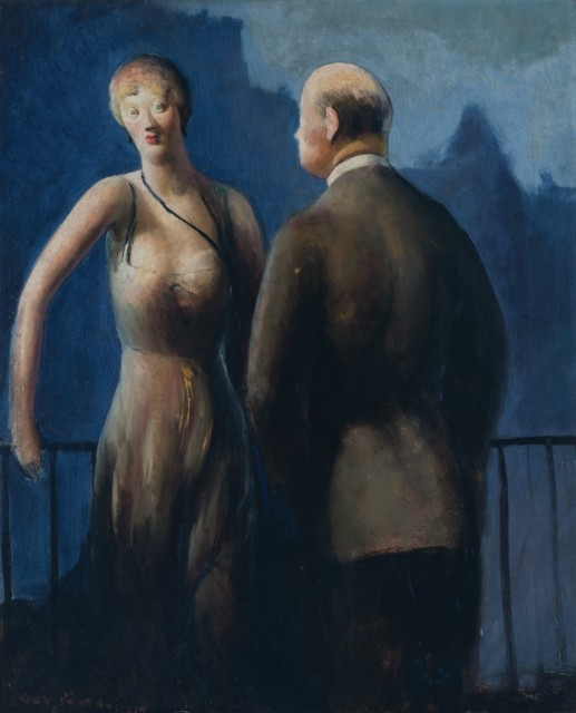 Guy Pène du Bois, On the Balcony, 1926. Auction May 10