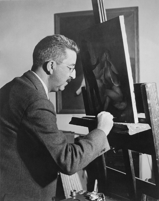 Guy Pène Du Bois at his easel