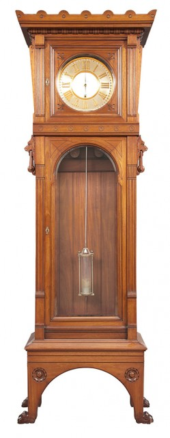 Herter Brothers American Aesthetic Movement Mahogany Tall Case Clock, Circa 1874. Auction Apr 5 / Lot 338