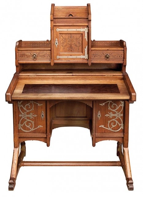 Kimbel and Cabus Modern Gothic Oak Desk, Circa 1877. Auction Apr 5 / Lot 336