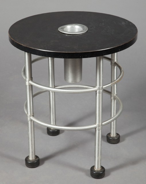 Warren McArthur, Tubular Aluminum and Lacquered Wood Smoking Table. Auction Mar 29 / Lot 453