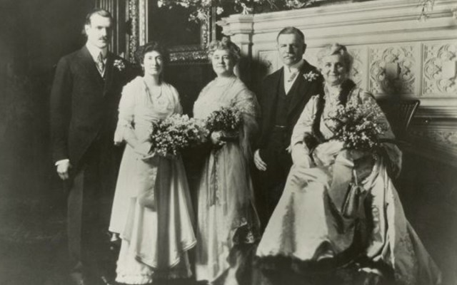 The McCormick-Linn Family. At left are Cyrus Hall McCormick, III, and his fiance, Dorothy Linn, circa 1914-15.