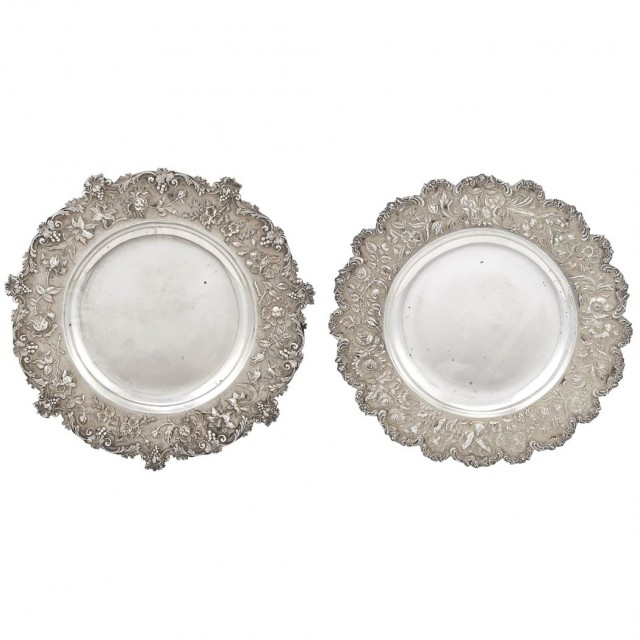 Two S. Kirk & Son Co. Sterling Silver Dishes, 1903-1924. Sold for $3,750.