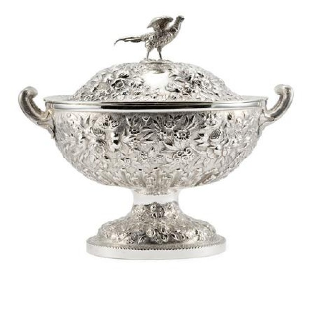 S. Kirk & Son Sterling Silver Tureen. Sold for $4,687.