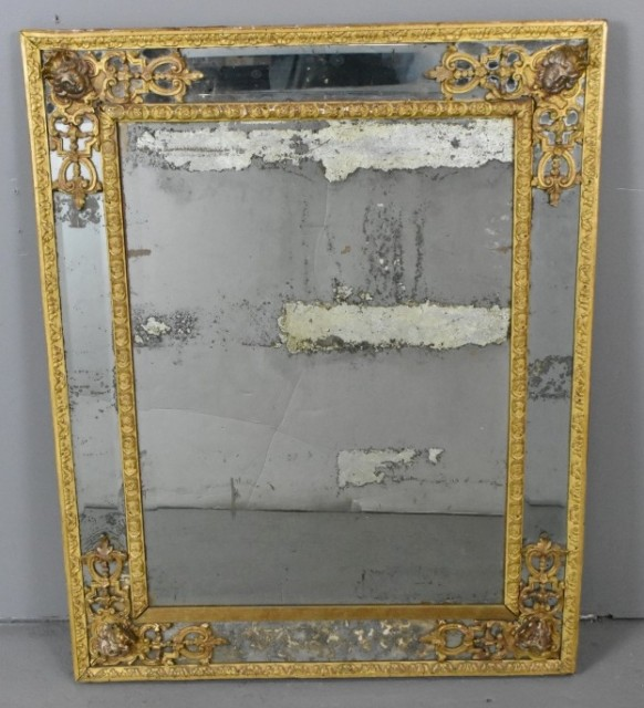 Lot 18. Louis XV style giltwood and gesso mirror. Starting bid $100
