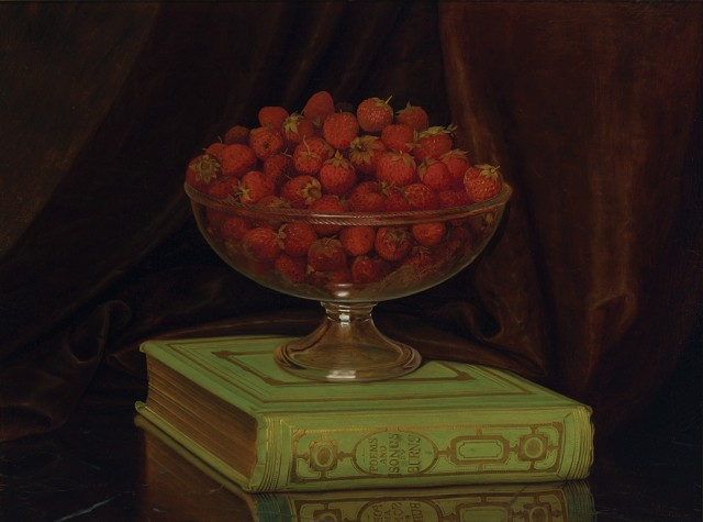 William Mason Brown (1828-1898), Bowl of Strawberries. Est $6,000-8,000. Lot 63. Auction Oct 4