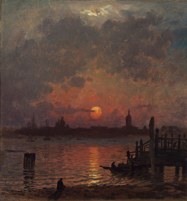 John Joseph Enneking (1841-1916), Venice at Night, circa 1874. Est. $3,000-5,000. Lot 87. Auction Oct 4