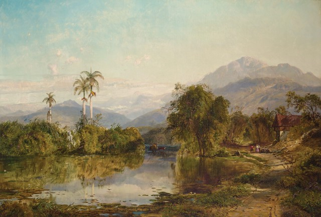 Edmund Darch Lewis (1835-1910), View of Cuba, 1860. Est. $25,000-35,000. Lot 90. Auction Oct 4