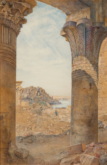 Henry Roderick Newman (1843-1917), Among the Ruins of Philae, 1893. Est. $15,000-25,000. Lot 94. Auction Oct 4