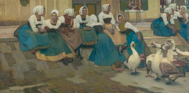 Harry Mills Walcott (1870-1944), The Gossips, circa 1901. Est. $6,000-8,000. Lot 83. Auction Oct 4