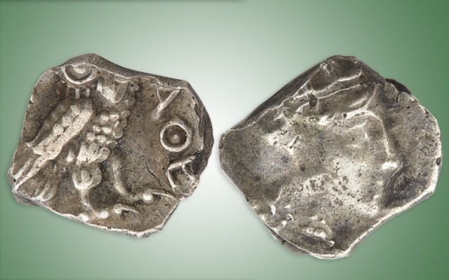 Judæa, Gaza, 4th Century silver OBOL. Est. $600-800. Lot 1122. Auction Nov 7.