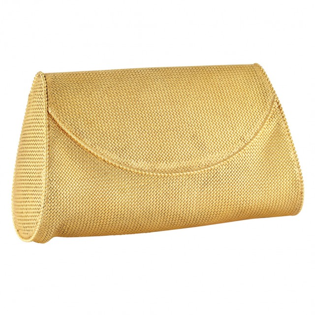 Gold Evening Purse, Van Cleef and Arpels. Sold for $11,250.