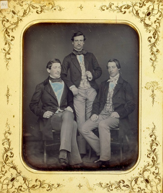 Group of three half-plate and one three-quarters plate portrait daguerreotypes of men, 1850s. Est. $800-1,200. Lot 15. Auction Dec 14