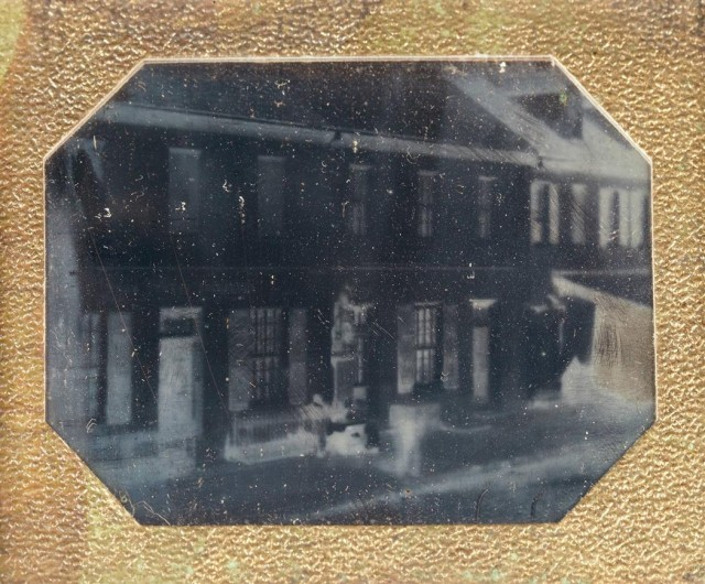 Group of three daguerreotypes of buildings, 1850s. Est. $600-900. Lot 27. Auction Dec 14