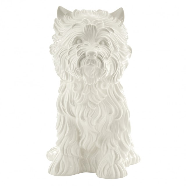 Jeff Koons (b. 1955), PUPPY, Glazed white ceramic vase, 1998. Est. $7,000-10,000. Auction May 1