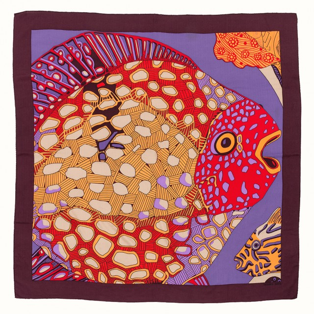 Two Cashmere and Silk Scarves, Annie Faivre, Hermès, Paris. Sold for $1,625.