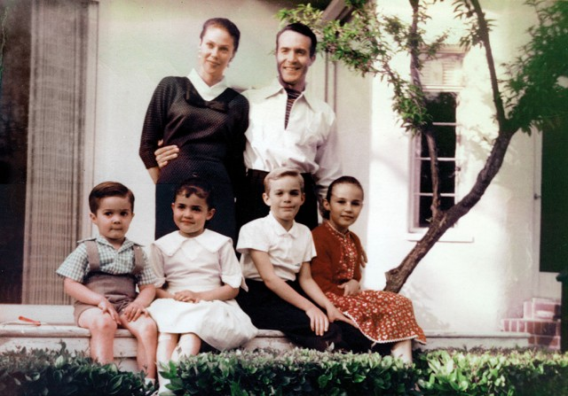 The Montalban family, circa 1950 (Laura is at far right)