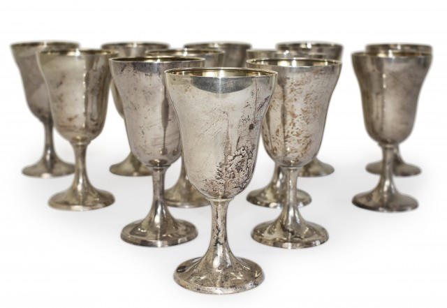 Lot 66. Twelve International Sterling Goblets