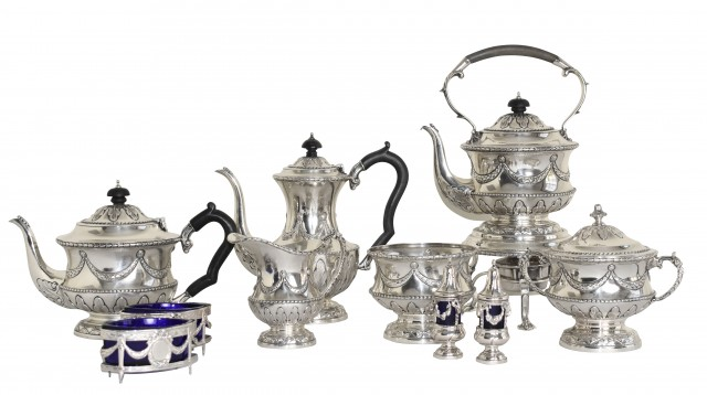 Lot 71. George V Sterling Tea and Coffee Service, 1921
