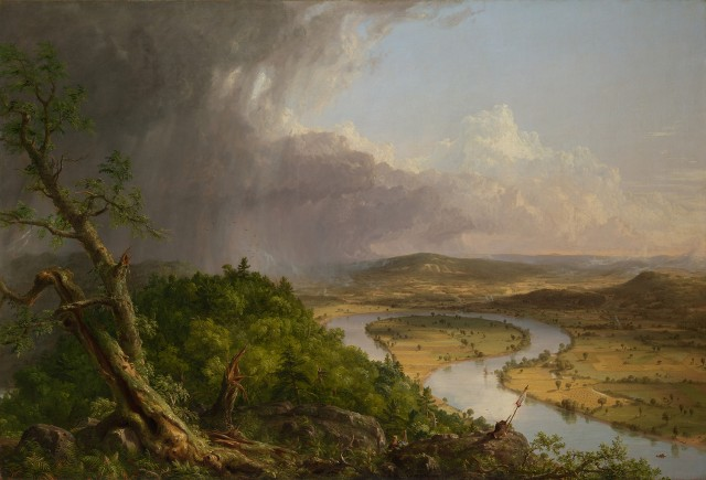 View from Mount Holyoke, Northampton, Massachusetts, after a Thunderstorm—The Oxbow, 1836.