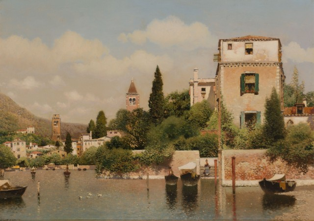 Lot 10, Henry Pember Smith (American, 1854-1907), An Italian Lake. Est. $4,000-6,000.