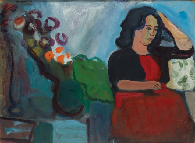 Lot 137, Robert De Niro, Sr. (American, 1922-1993), Dora in Red Dress, 1960. Est. $4,000-6,000.