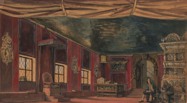 Lot 83, Alexandre Benois (Russian, 1870-1960), Set Design, possibly for Queen of Spades, 1919. Est. $4,000-6,000.