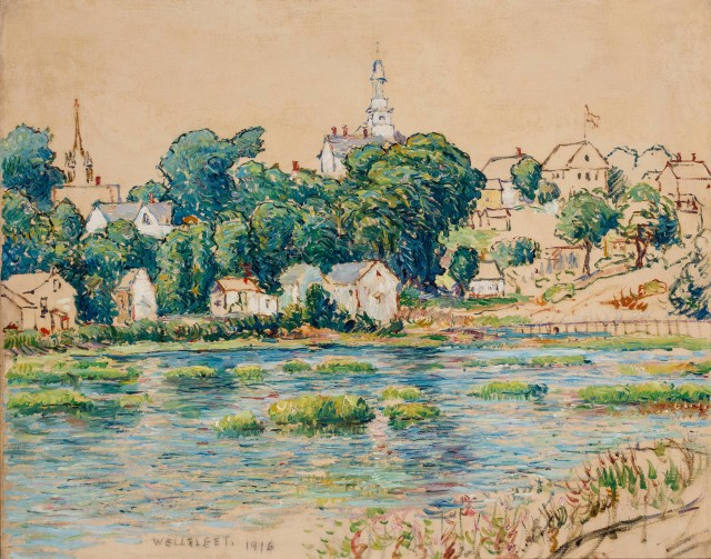 Lot 98, Reynolds Beal (American, 1866-1951), Wellfleet, 1916. Est $4,000-6,000.