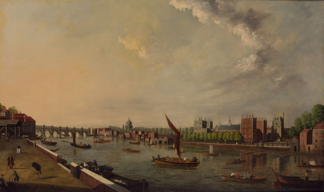 School of Samuel Scott, The Thames at Lambeth. Lot 39. Est. $7,000-10,000. Auction May 23.