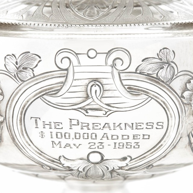 Native Dancer's 1953 Preakness Stakes Trophy. Sold for $100,000