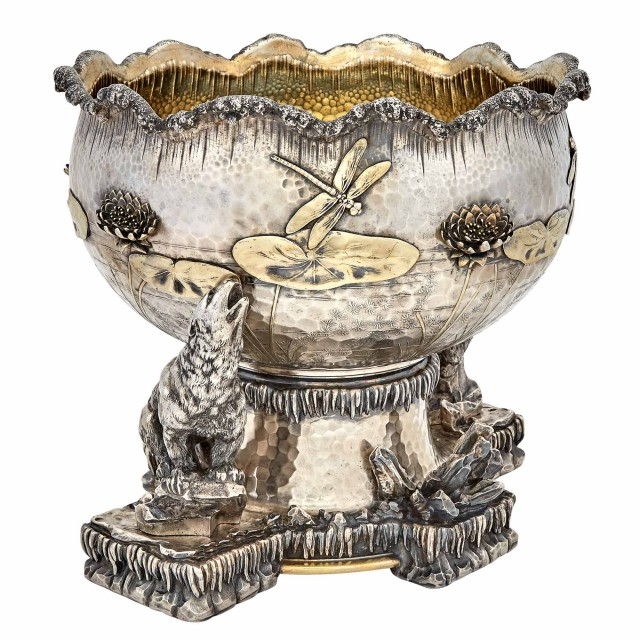 Tiffany and Co. Parcel Gilt Sterling Silver Ice Bowl, Designed by Edward C. Moore, circa 1877. Lot 313. Auction Oct 8, 2019
