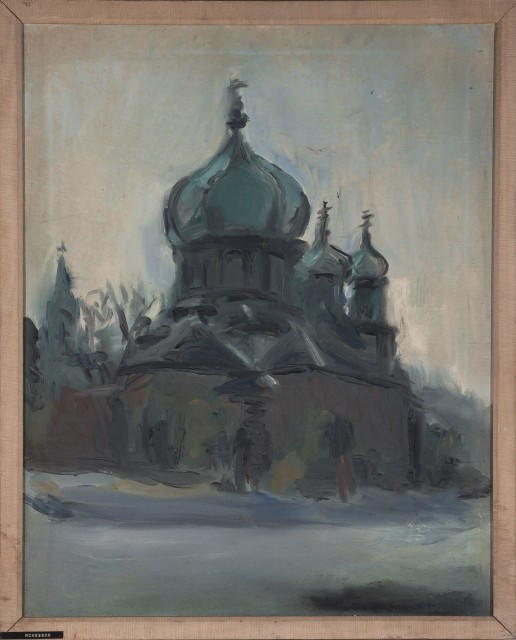 Malcolm McKesson, Untitled (Eastern Orthodox Church), 1966. Est. $700-900. Lot 49. Paintings and Drawings Online. Bidding ends May 12.