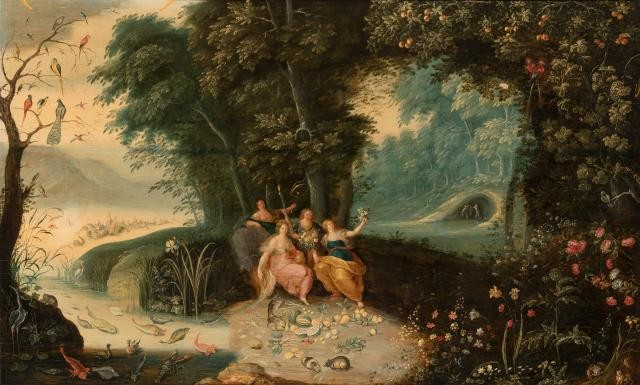 Attributed to Hendrick van Balen the Younger and Jan Brueghel the Younger, Persephone: An Allegory of Spring. Lot 15. Auction June 3, 2020.