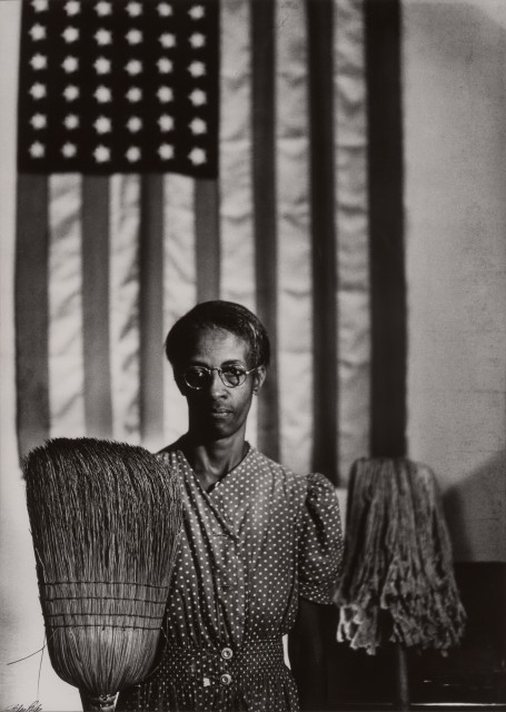 Gordon Parks (1912-2006), Great American Gothic, Washington D.C., 1942. Est. $5,000-8,000. Lot 107. Photographs. Auction June 29.